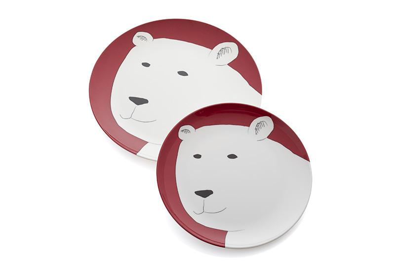Тарелки Polar Bear, Crate and Barrel, магазин Crate and Barrel, 400 руб. каждая.