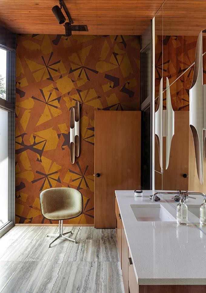Панорамные обои в ванной. Модный декор для самой влажной комнаты (фото 10)
