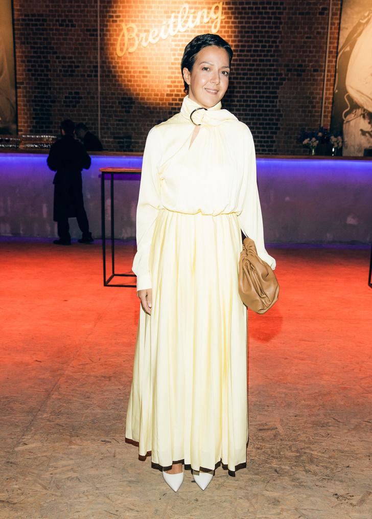 Ксения Чилингарова в платье Matériel Tbilisi на вечеринке Breitling (фото 1)