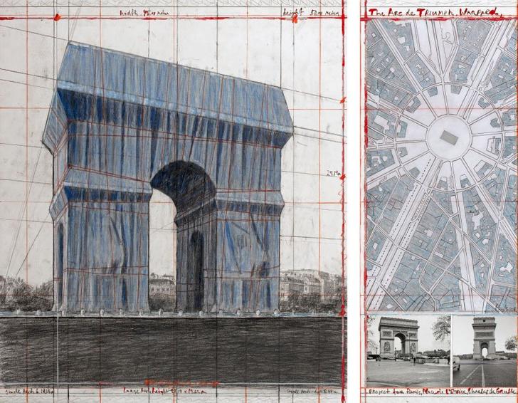 Христо «упакует» Триумфальную арку в Париже (фото 5)