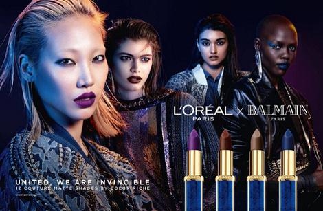 Даутцен Крез и другие модели в рекламной кампании L'Oreal Paris Х Balmain | галерея [1] фото [1]