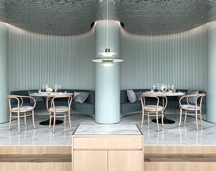 Французский ресторан с зеркальным потолком в Гуанчжоу (фото 2)