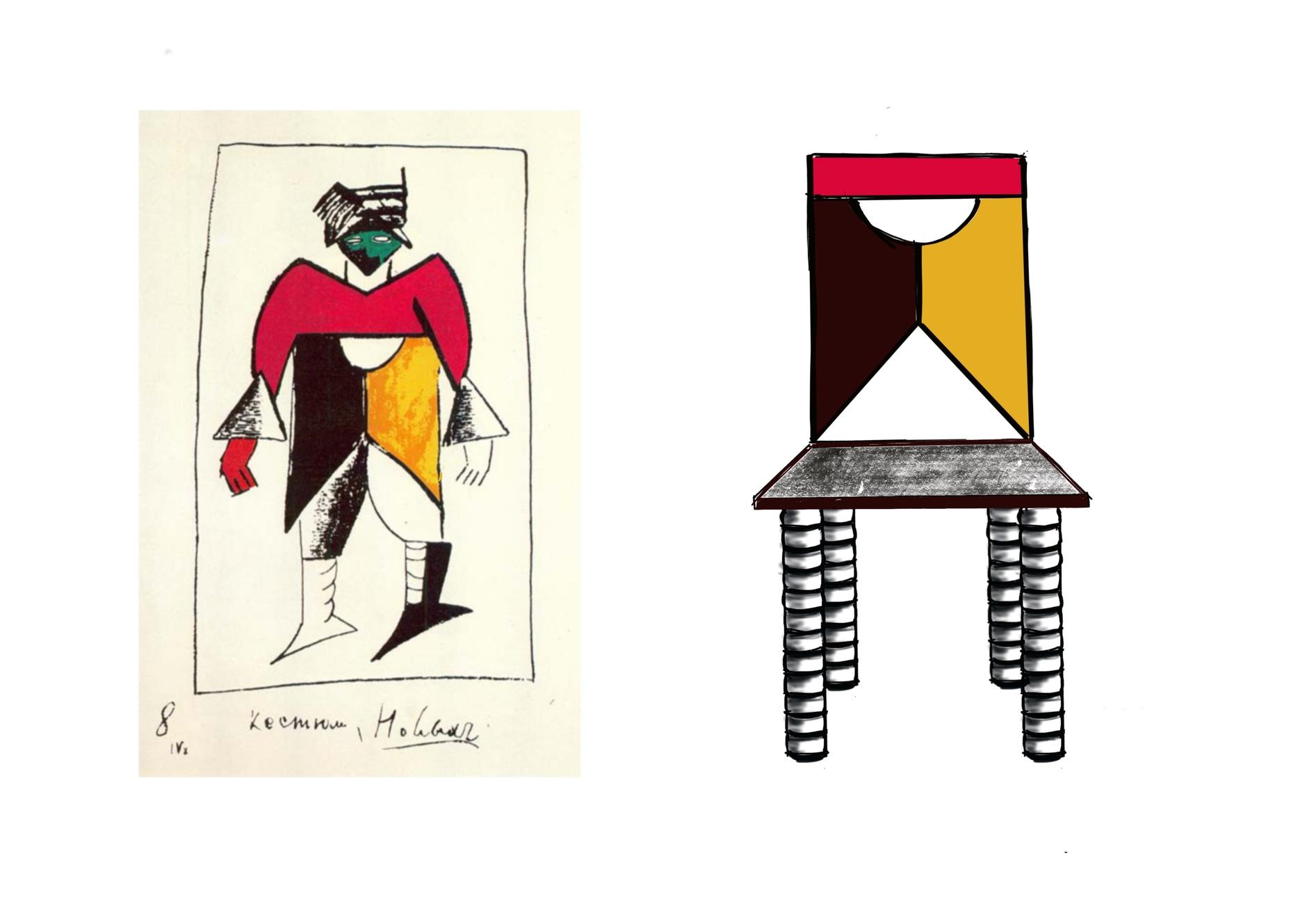 Стулья Анны Титовой по эскизам Казимира Малевича (галерея 6, фото 3)