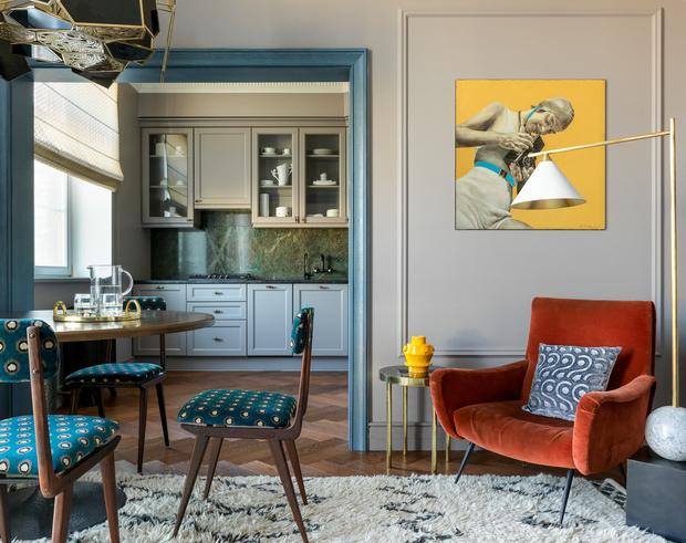 Яркая квартира 80 м²: проект Нади Зотовой (фото 0)