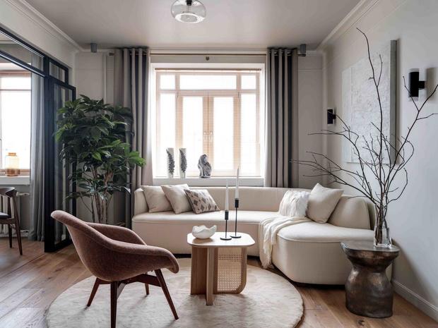 Московская квартира 49 м² в экостиле: проект Анны Васильевой (фото 0)