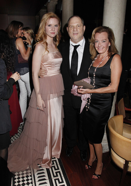 Madisen Beaty, H. Weinstein and C. Scheufele at TWC dinner for the Master at the Venice F.F.