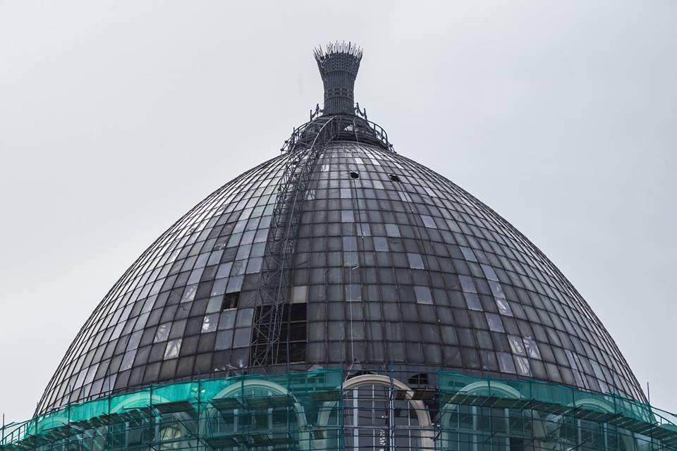 Продолжается реставрация павильона «Космос» на ВДНХ | галерея [1] фото [6]