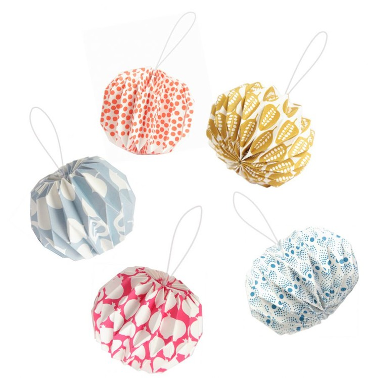 Бумажные фонарики оригами, www.atelierlzc.com