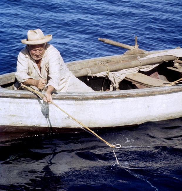 Съемки фильма «Старик и море»