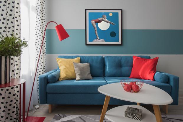 Color blocking: квартира 46 м² под сдачу (фото 0)