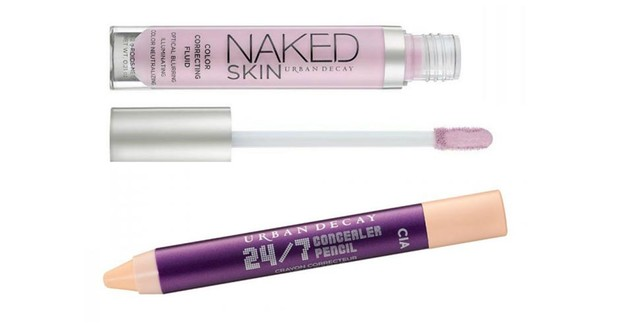 Urban Decay Naked Skin Color Correcting Fluid; Urban Decay 24/7 Concealer Pencil