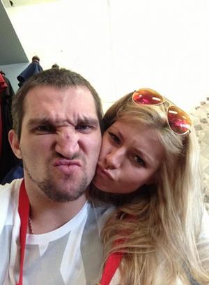Мария Кириленко и Александр Овечкин