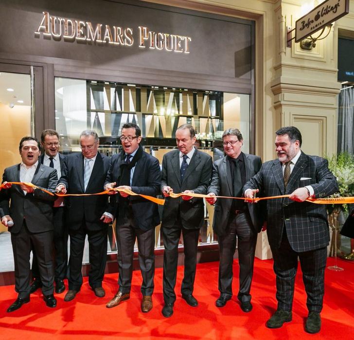 Знаменитости на открытии первого бутика Audemars Piguet