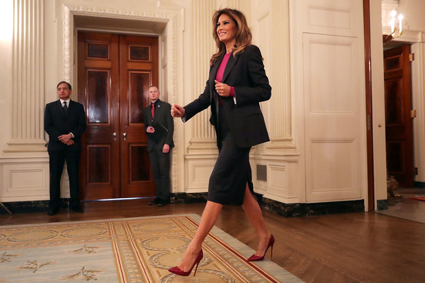 Мелания Трамп на официальном мероприятии в Белом доме (фото 1)