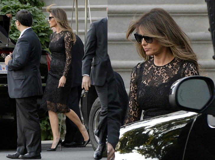 Мелания Трамп в Dolce & Gabbana фото