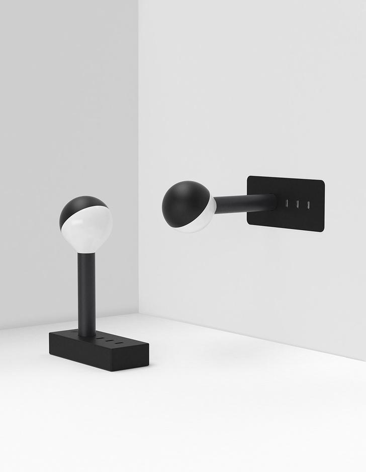 Свет и тень: черно-белые светильники