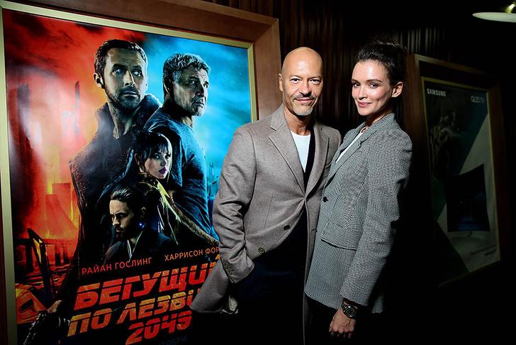 аулина Андреева и Федор Бондарчук на премьере фильма «Бегущий по лезвию 2049»