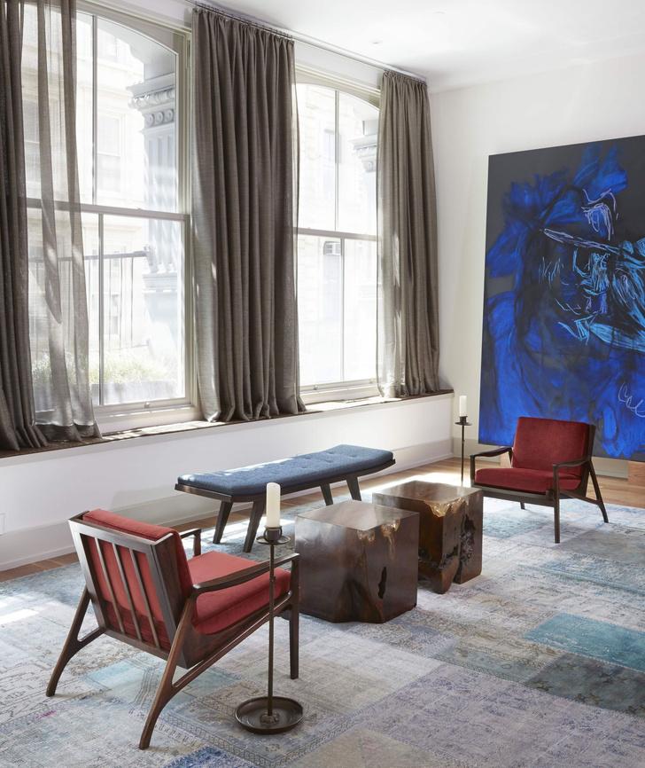 Лофт в Нью-Йорке с современным искусством (фото 5)