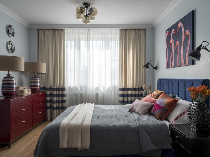 Дитя заката: фламинго и другие яркие  решения в типовой квартире 55 м² (фото 9)
