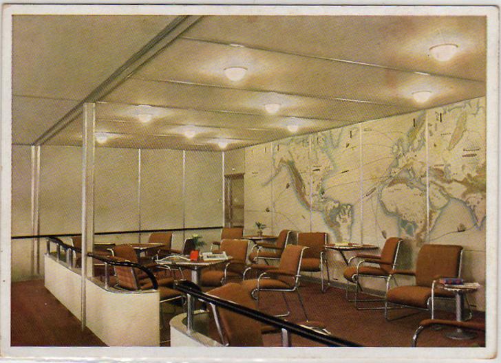 Интерьеры дирижабля «Гинденбург» (фото 12)