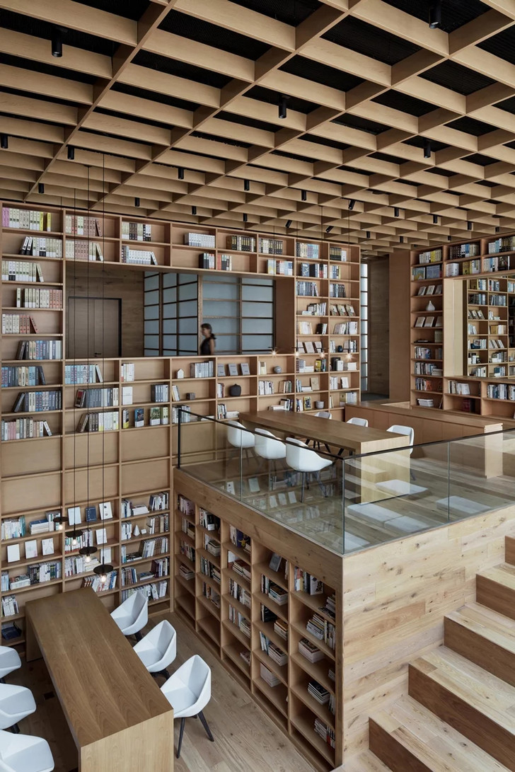Деревянная библиотека в Ханчжоу (фото 12)