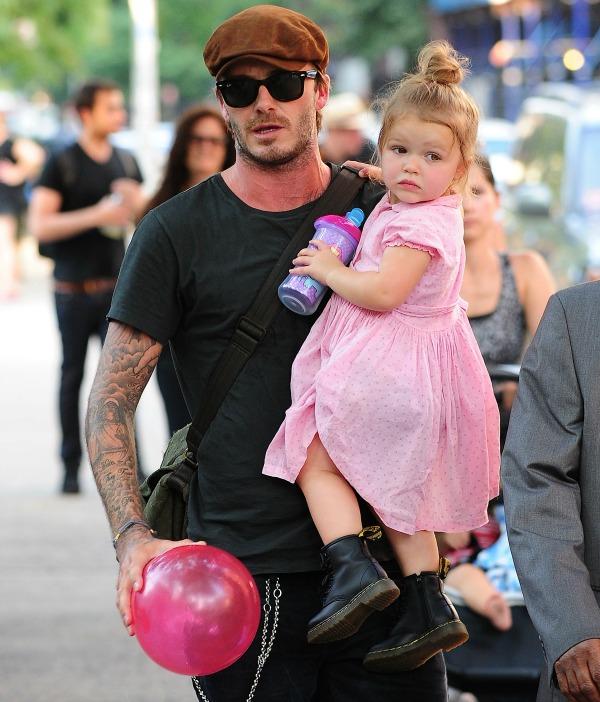 Дэвид с дочкой Харпер
