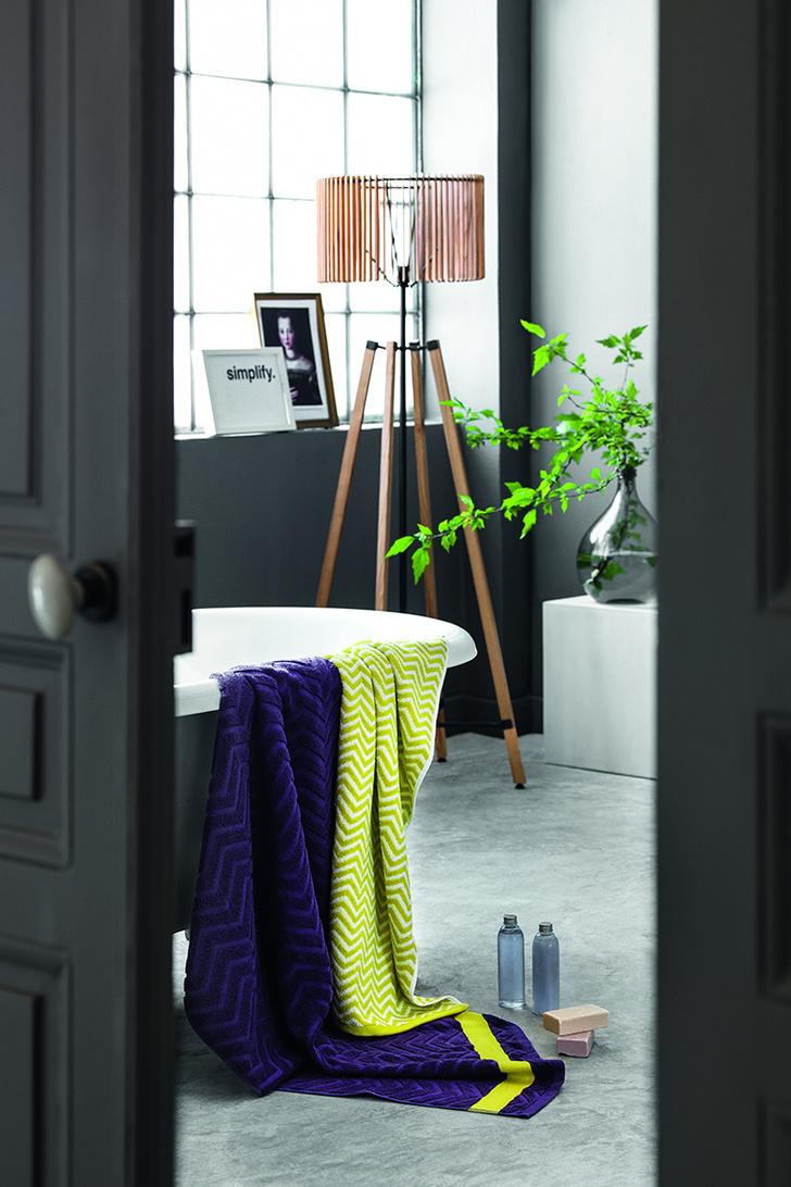 Банные полотенца из коллекции «Нордик», салоны «Тогас», www.togas.ru
