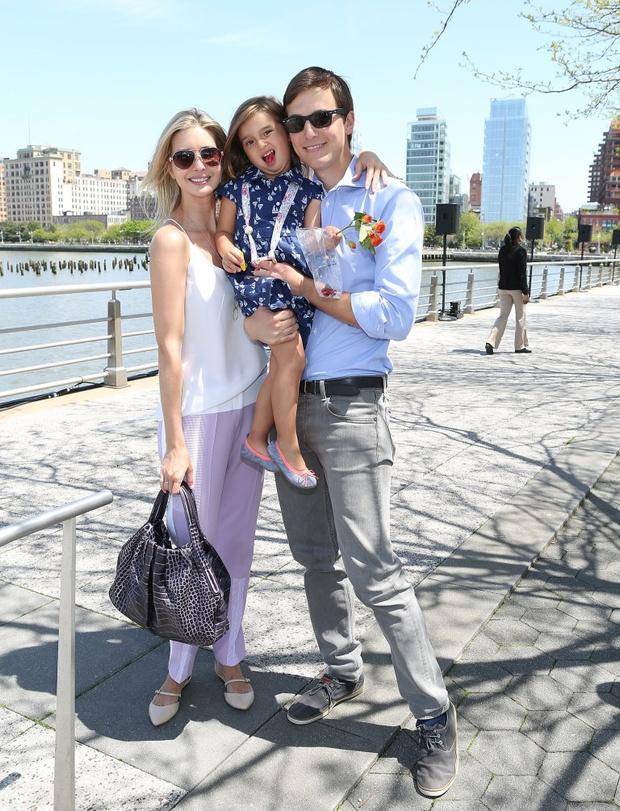 Иванка Трамп и Джаред Кушнер с дочерью Арабеллой
