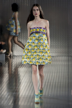 Показ Mary Katrantzou коллекции сезона Весна-лето 2014 года prêt-à-porter - www.elle.ru - Подиум - фото 562018