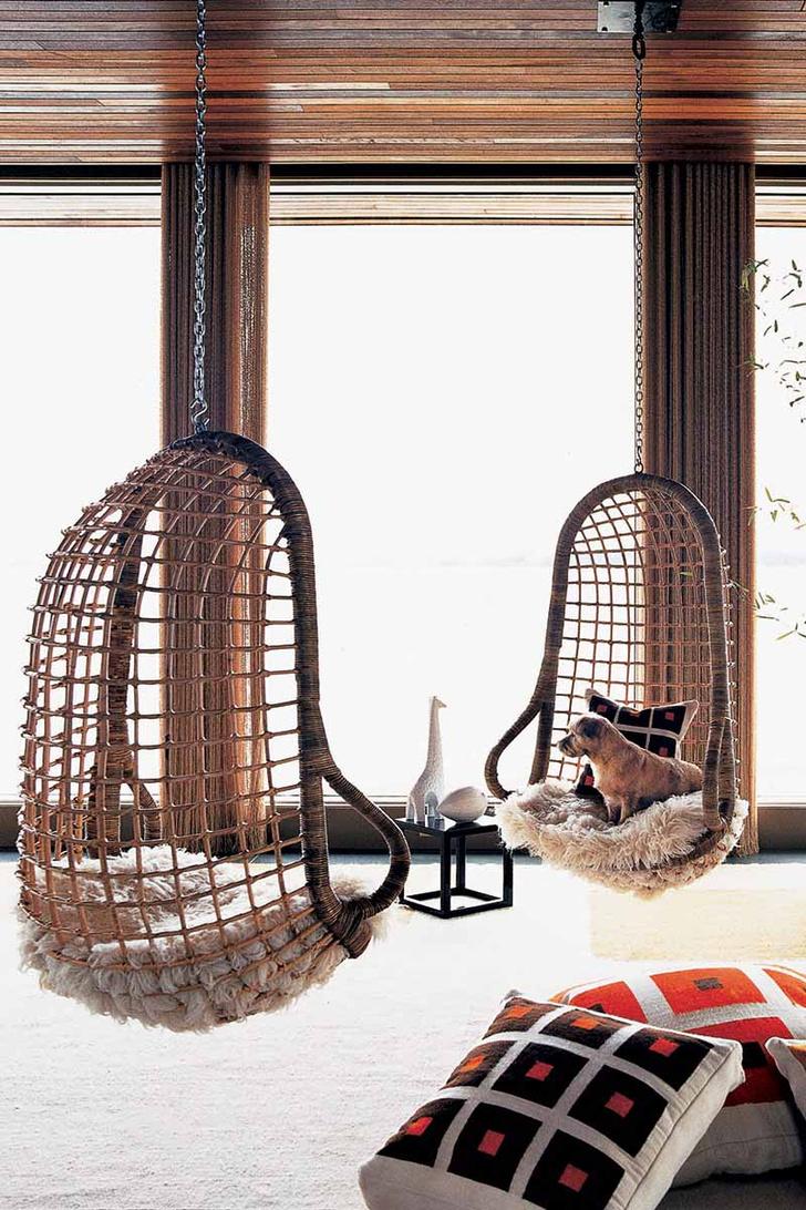Купите подвесные кресла позитивный интерьер