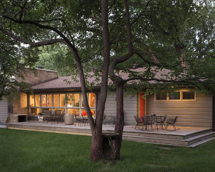 Ранчо в стиле мидсенчури в Канзасе (фото 16)