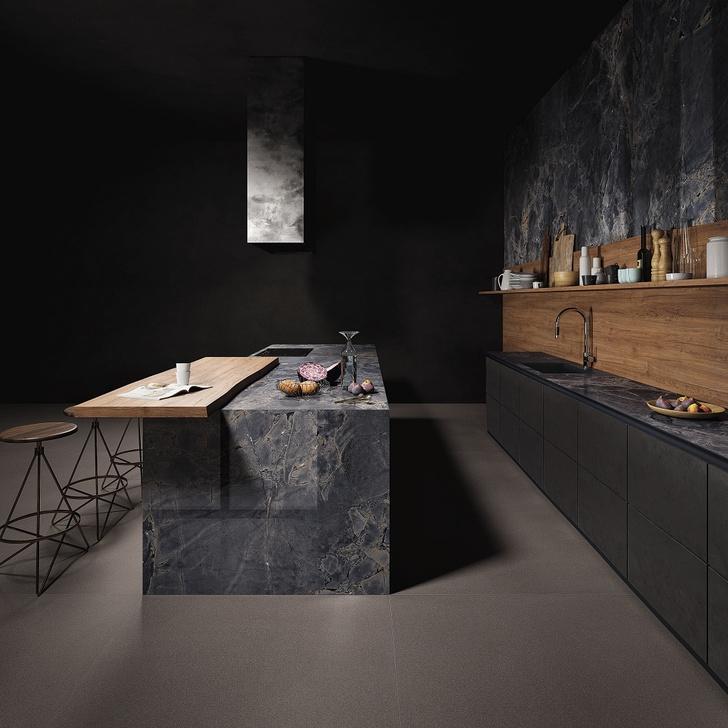 Керамическая плитка на кухне. Модные решения (фото 11)