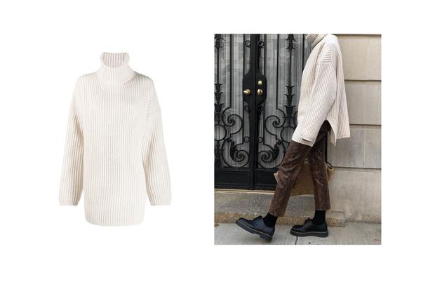 Самые сливки: кремовые свитеры для уютной зимы (фото 4)
