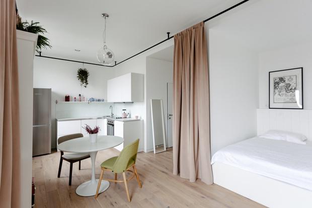 Квартира 33 м²: модный интерьер для молодой девушки от buro5 (фото 5)