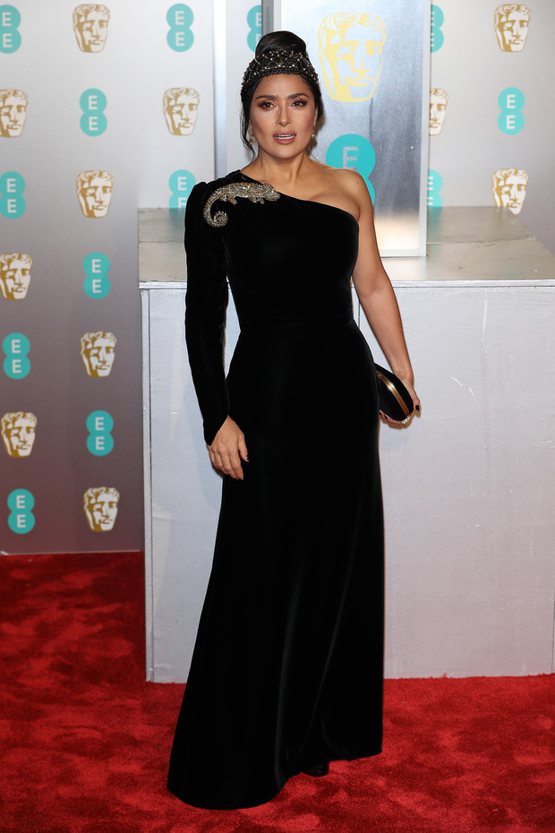 Знойная красавица: Сальма Хайек в Gucci на BAFTA-2019 (фото 1)