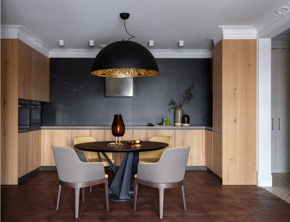 Кухня с деревянными фасадами: 25+ проектов (галерея 0, фото 0)