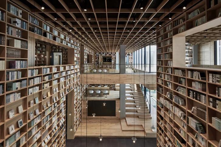 Деревянная библиотека в Ханчжоу (фото 17)