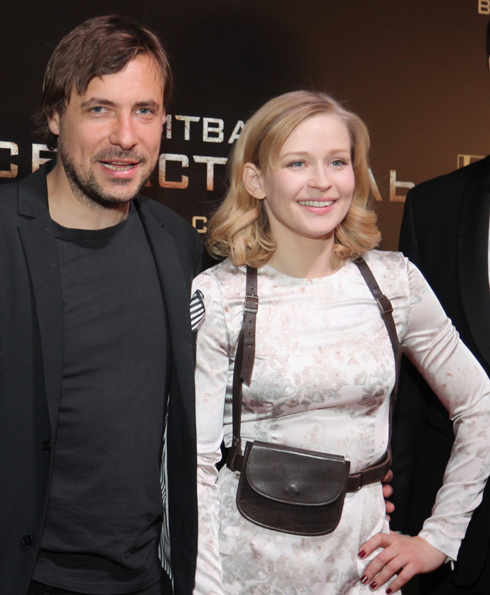 Евгений Цыганов и Юлия Пересильд на премьере фильма «Битва за Севастополь»