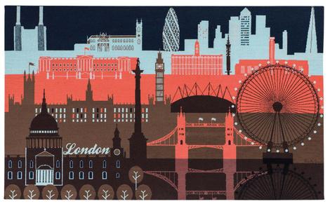 Настенный ковер London Skyline, дизайн Paul Smith, The Rug Company, салоны The Rug Company