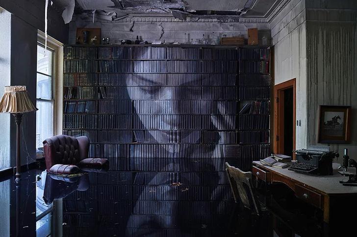 Блеск и нищета: картины на стенах заброшенного особняка (фото 8)