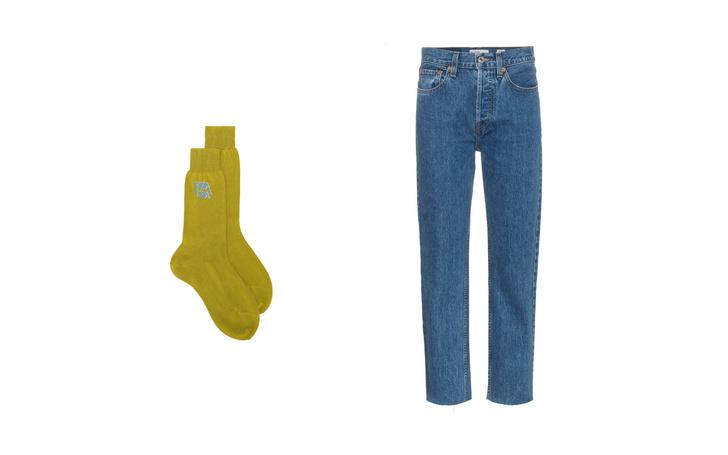 Джинсы + высокие носки: тренд для непогоды (фото 7)
