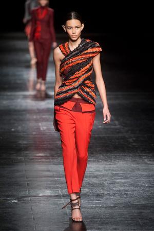 Показы мод Prabal Gurung Осень-зима 2014-2015 | Подиум на ELLE - Подиум - фото 3825