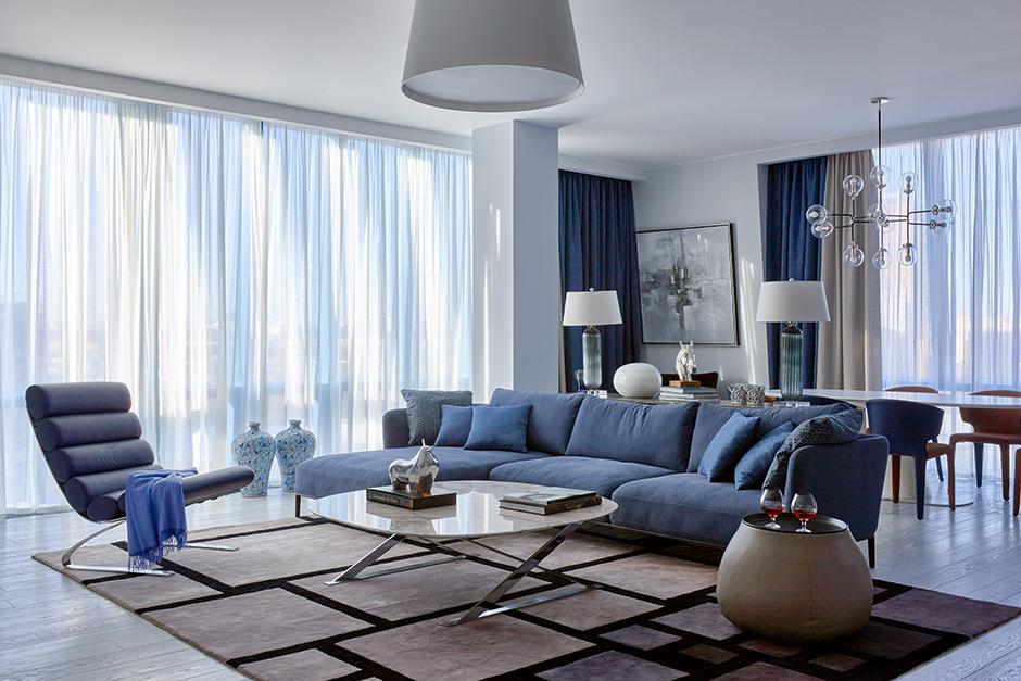 Синий цвет в интерьере: 30 проектов (галерея 0, фото 5)