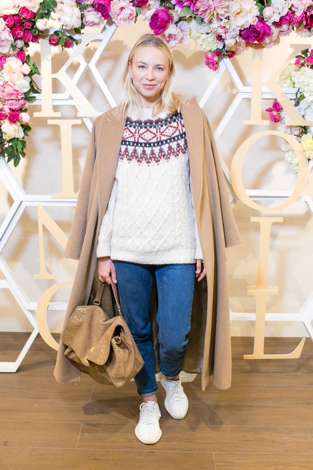 Анжелика Тиманина на открытии бутика King Koil в «Крокус Сити Молле» (фото 1)