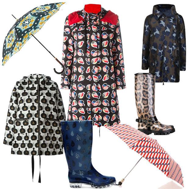 Выбор ELLE: плащи Lanvin, Fendi, Moncler, зонты Burberryи Marc Jacobs, сапоги Dolce&Gabbana и Toms