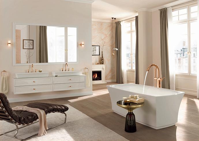 Отельный интерьер ванной от Grohe