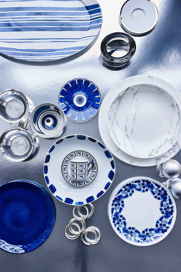 Тренд с обложки: синий цвет, хрусталь и серебро фото [6]