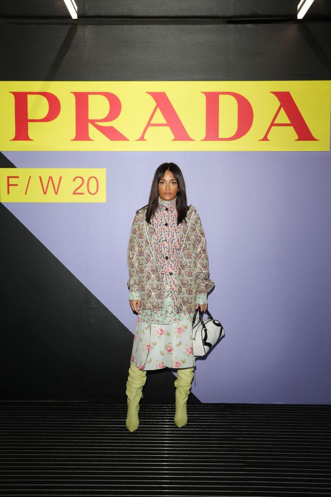 Барбара Палвин, Джильда Амбросио, Кьяра Ферраньи и другие гости показа Prada Menswear Fashion Week (фото 8)