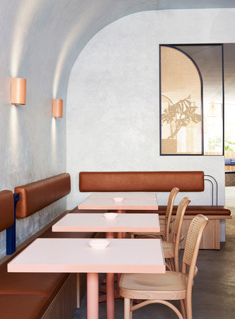 Все оттенки терракоты: ресторан в Сиднее (фото 1.1)