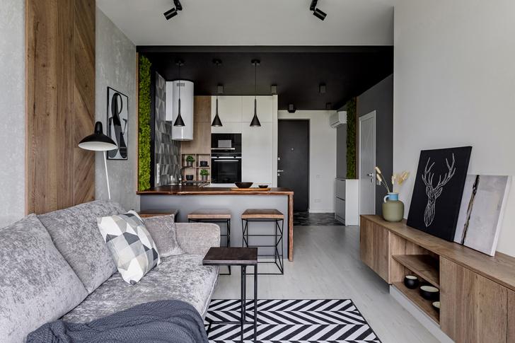 Экологичный интерьер квартиры в Москве 47 м² (фото 0)